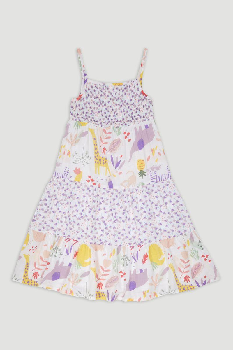 Elephant Print Smock Dress