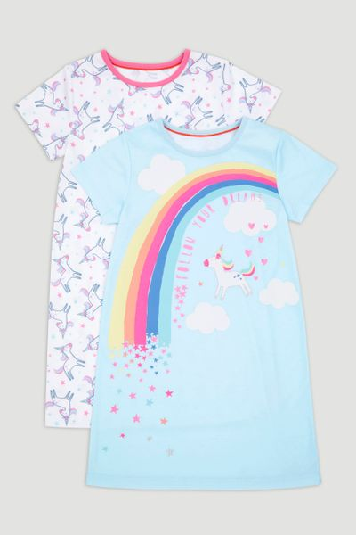 2 Pack Unicorn Nightdress