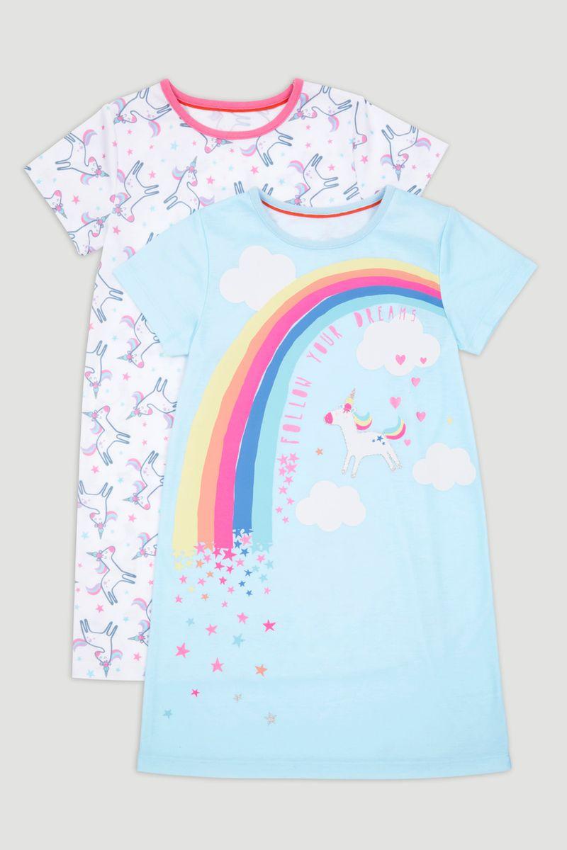 2 Pack Unicorn Nightdress