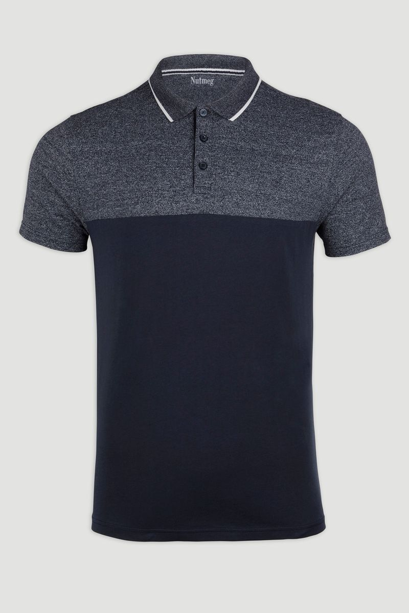 Navy Marl Polo Shirt
