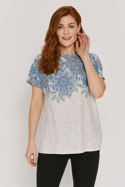 Short Sleeve Paisley T-shirt