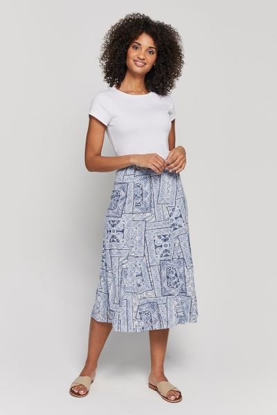 Burnout Printed Skirt