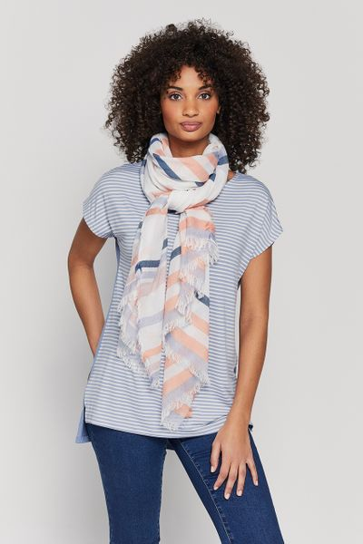 Stripe Top with Scarf