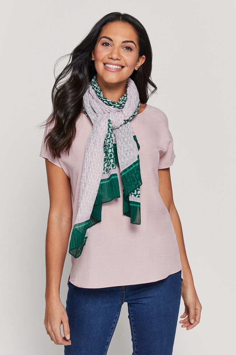 Pink Top with Scarf