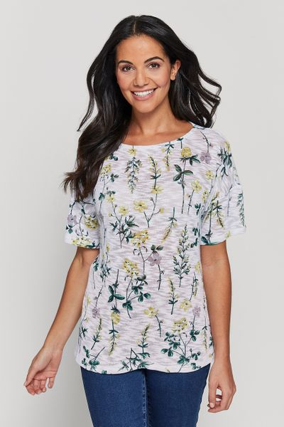 Loose Fitting Floral Top