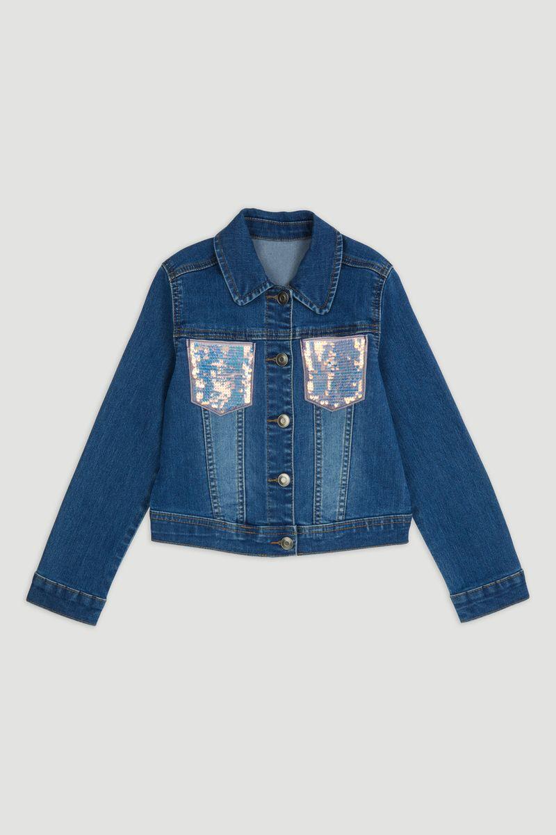 Sequin Pocket Denim Jacket