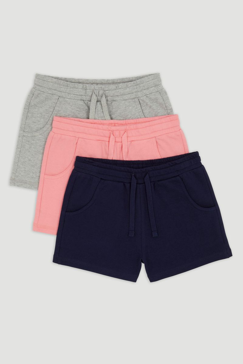 3 Pack Navy Jersey Shorts