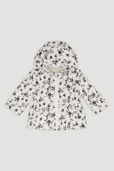 Mono Ditsy Floral Raincoat