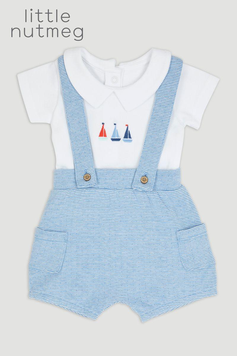 Little Nutmeg Sailor Braced Short Set
