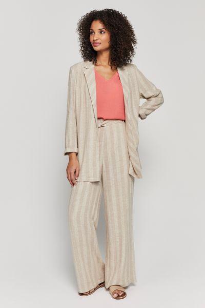 Natural Stripe Linen Rich Jacket