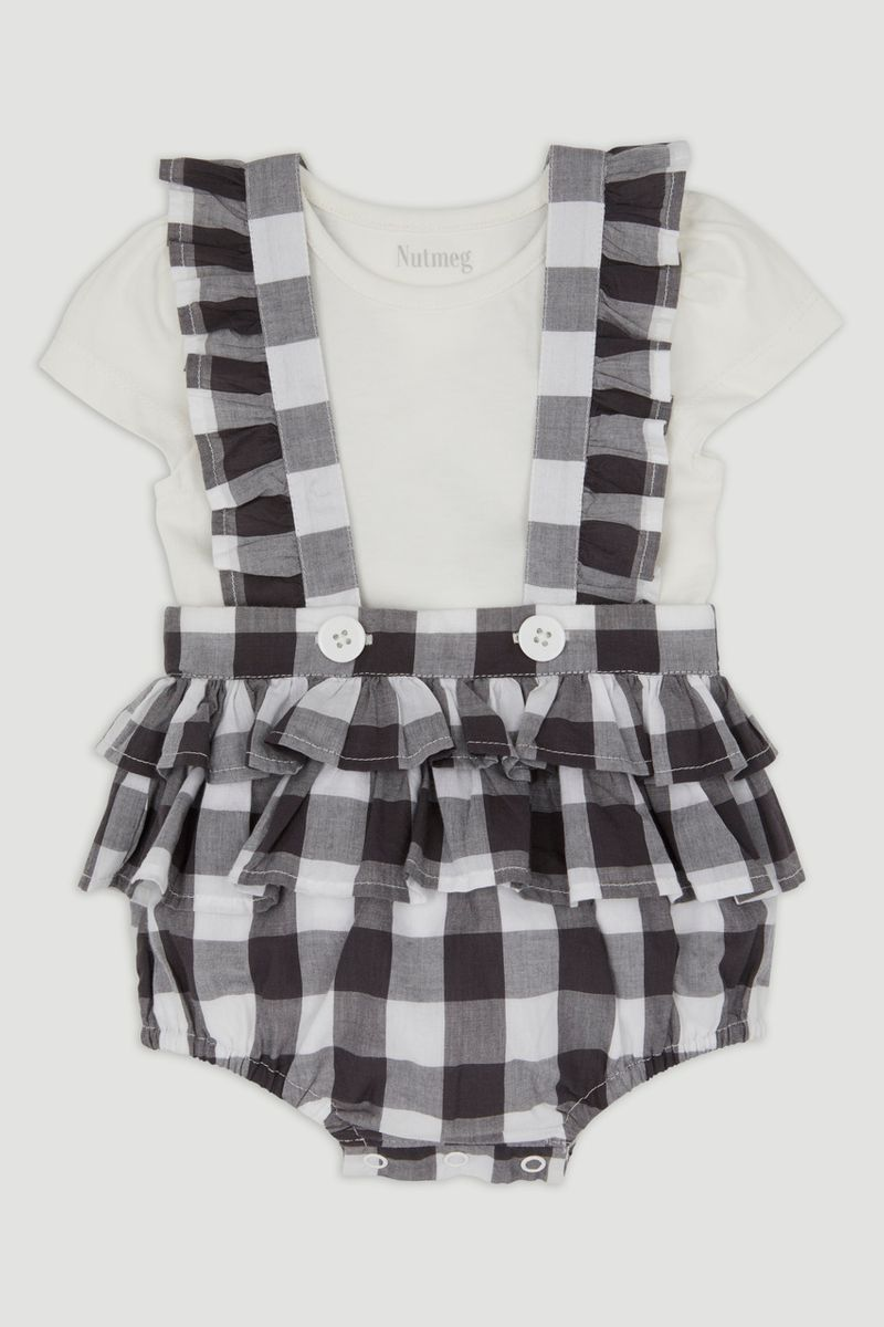 Monochrome Check Bloomers Set