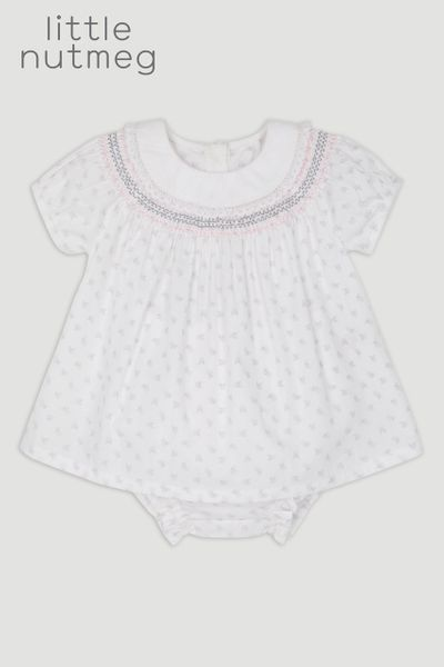 Little Nutmeg Flower Smock T-Shirt & Pants Set