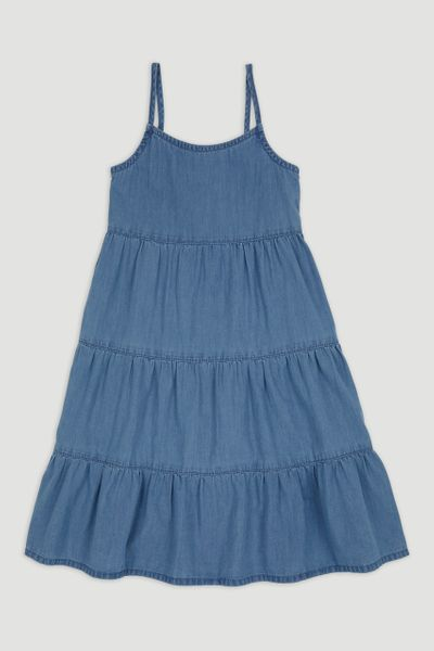 Denim Tiered Dress