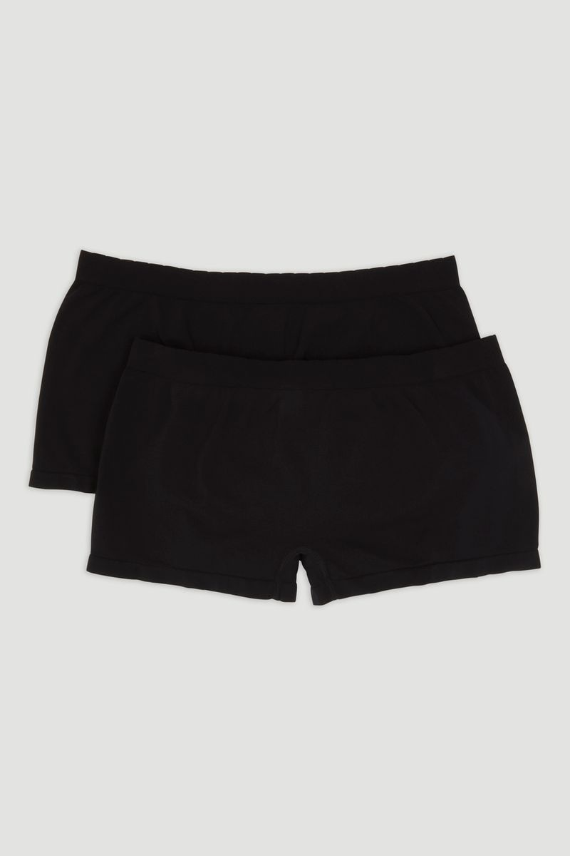 2 Pack Black Seam Free Short