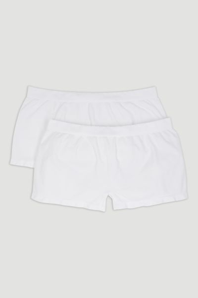 2 Pack White Seam Free Shorts