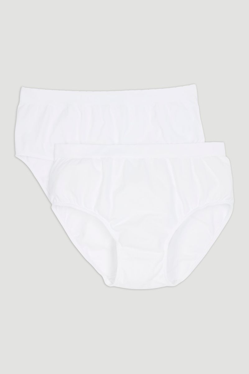 White Seam Free Full Briefs