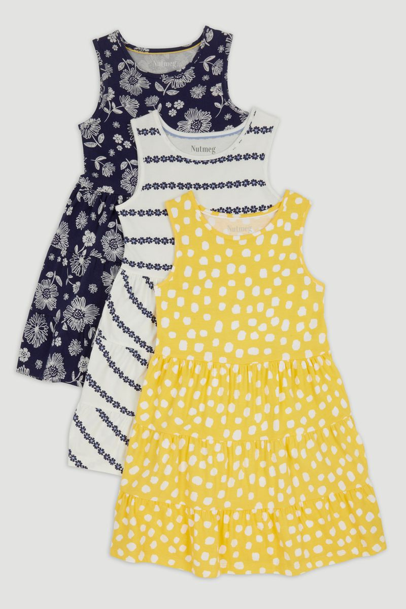 3 Pack Jersey Print Dresses 1-10yrs