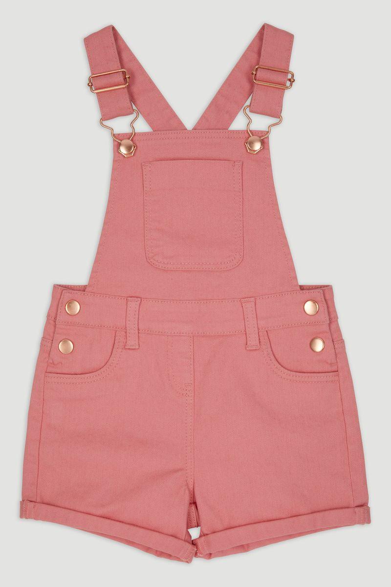Pink Short Dungarees