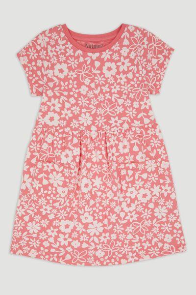 Pink Flower Print Dress