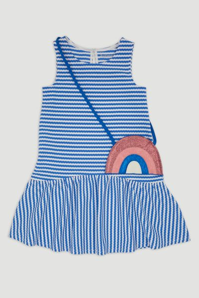 Stripe Dress & Rainbow Bag