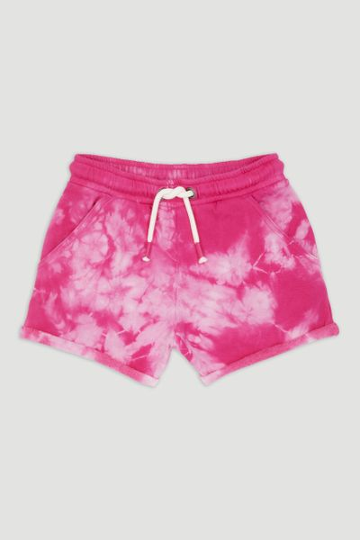 Pink Tie Dye Sweat Shorts
