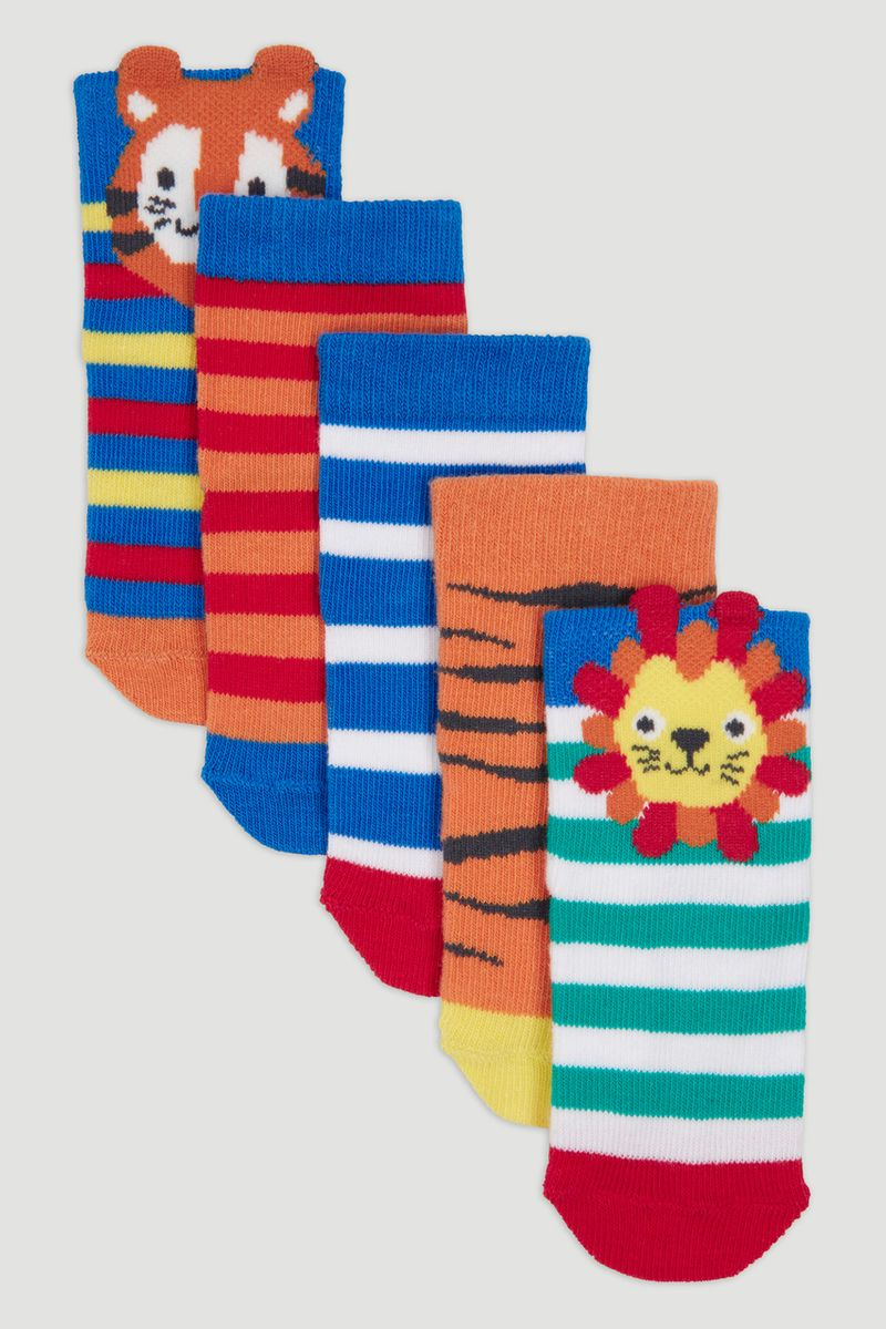 5 Pack Tiger Socks