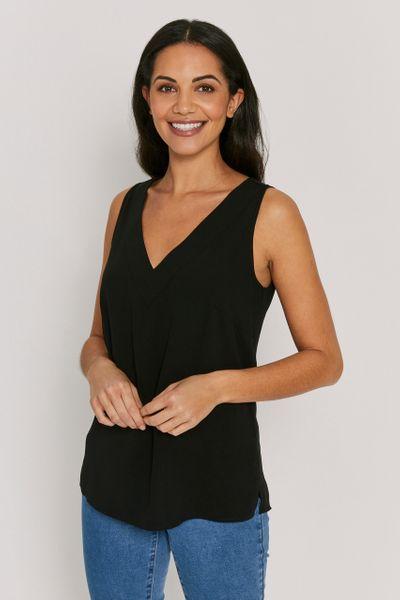V-Neckline Black Cami