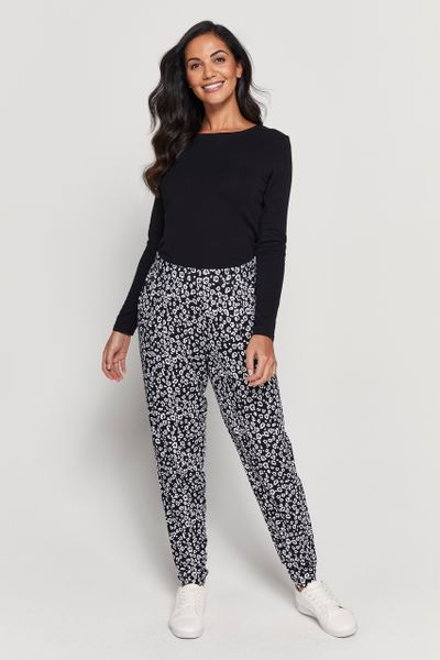 Animal Print Harem Trouser