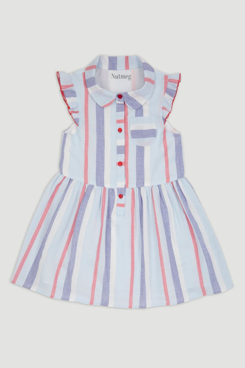 Stripe Shirt Dress 1-10yrs