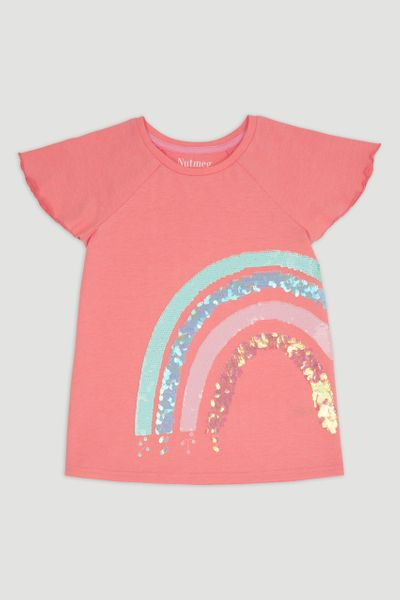 Rainbow Sequin T-Shirt
