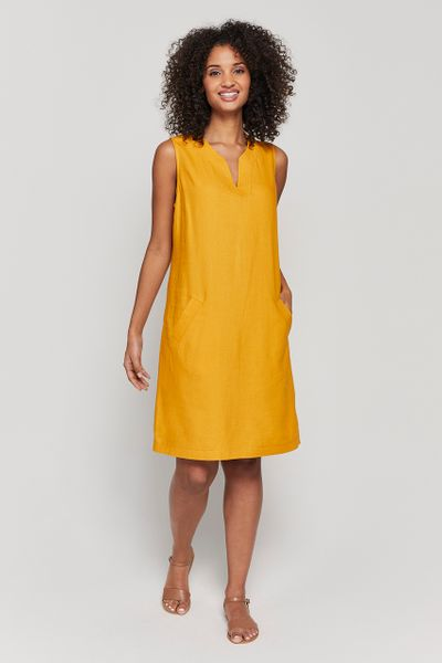 Ochre Shift Dress