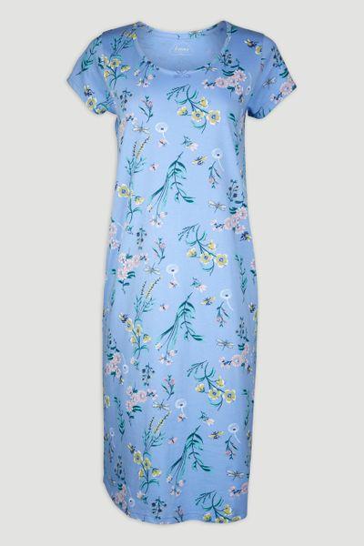 Floral Blue Nightie