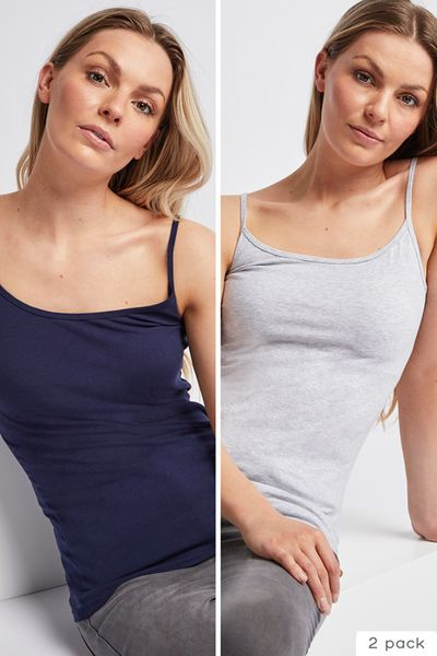 2 Pack Grey & Navy Cami