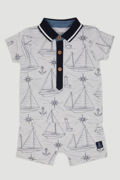 Sailor Boat Short Set