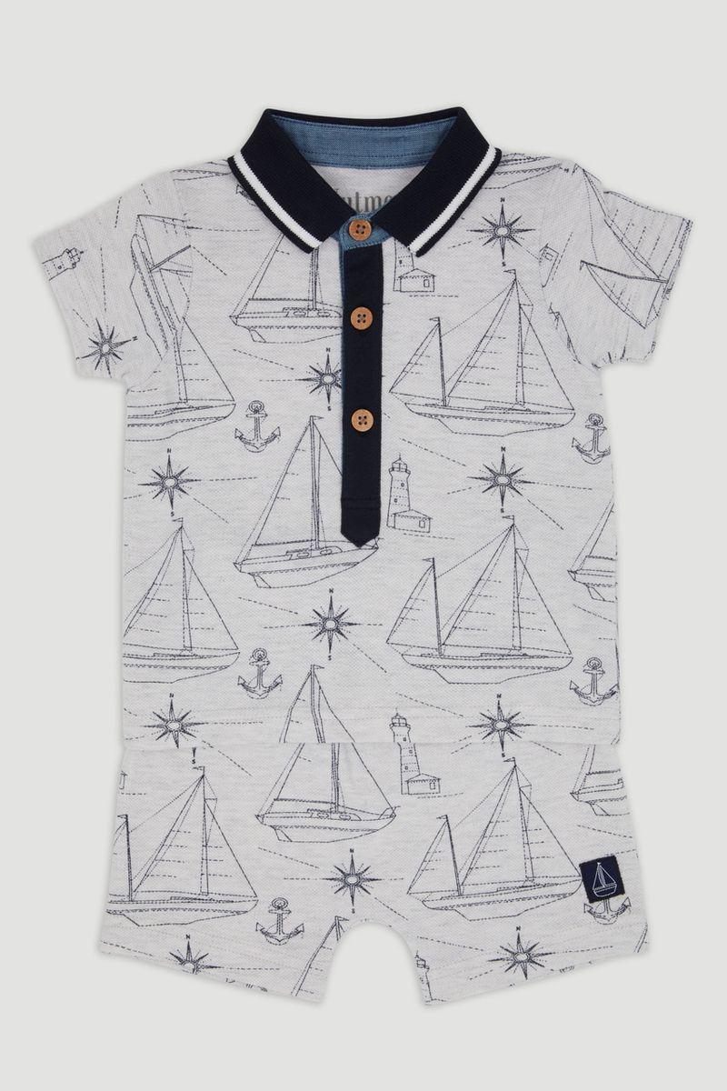 Sailor Boat Short Set