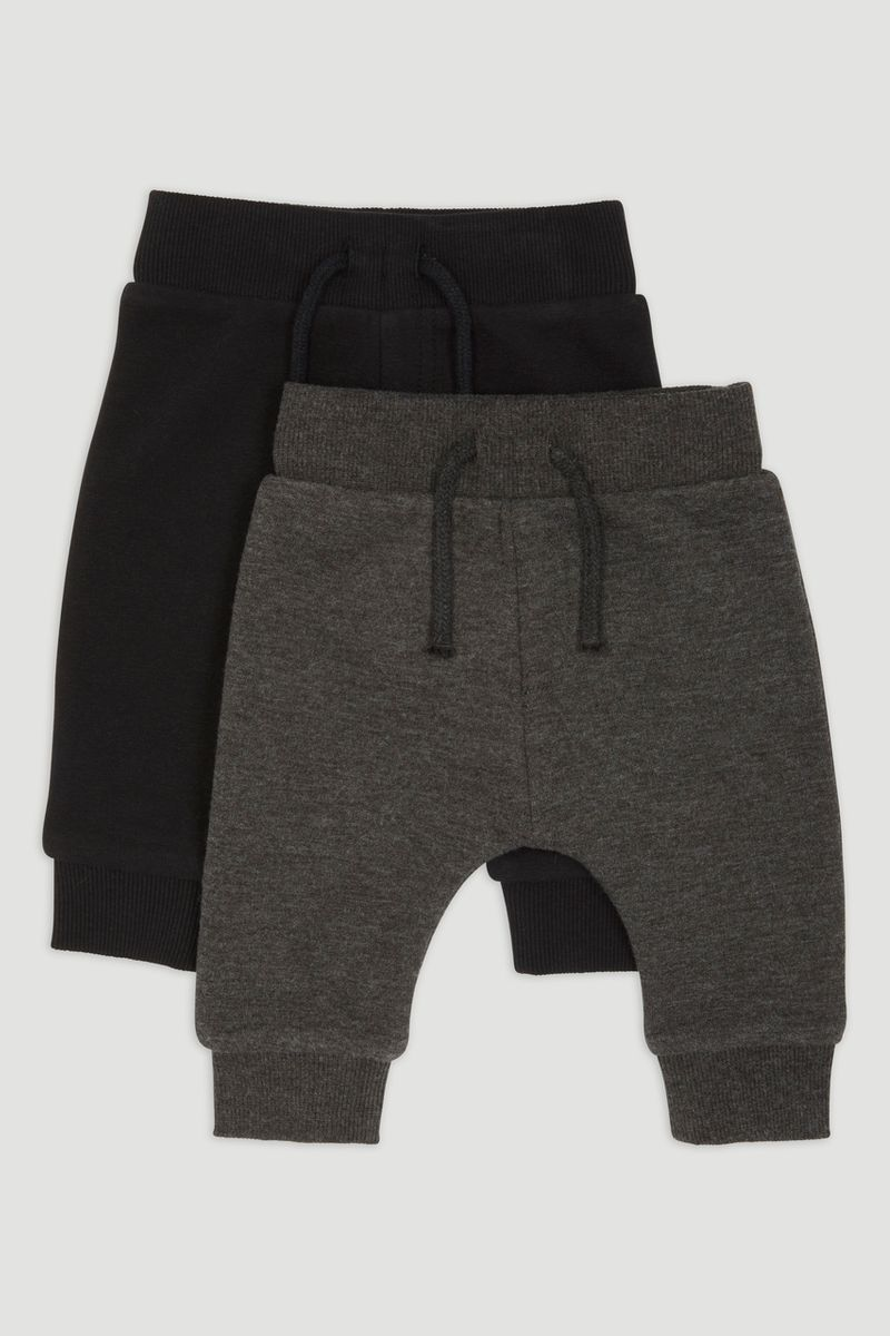 2 Pack Black & Grey Joggers