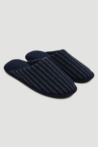 Blue Stripe Slippers