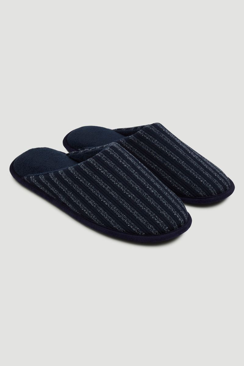 Blue Stripe Slippers