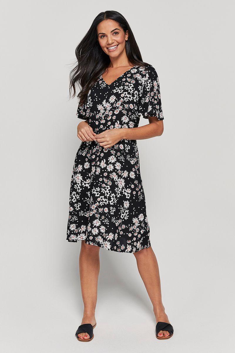Clover Floral Tea Dress