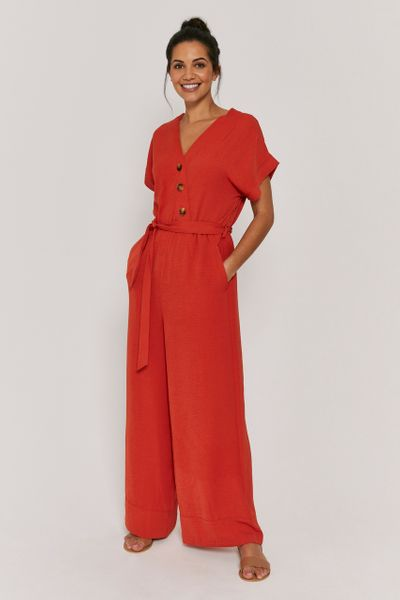 Kimono Sleeve Rust Jumpsuit