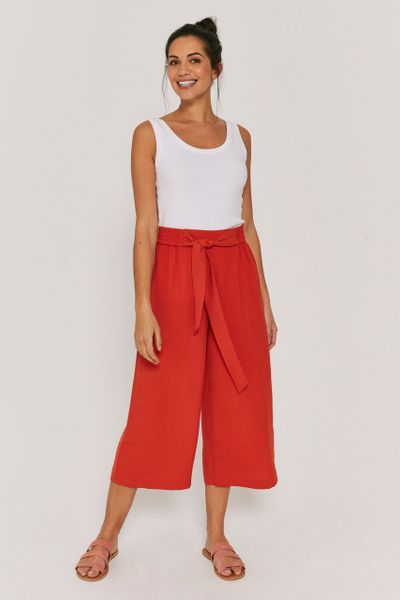 Rust Wide Leg Culottes