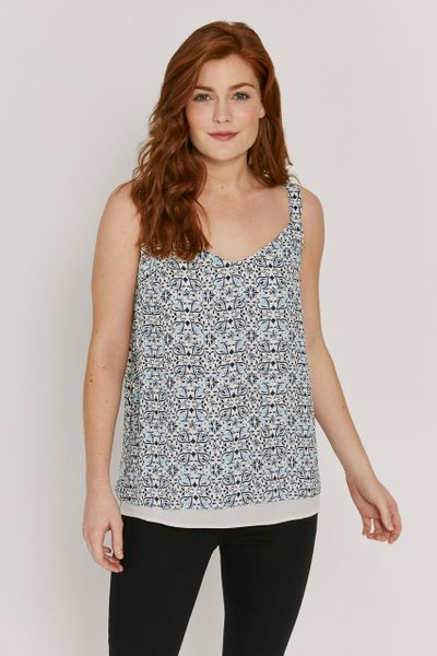 Patterned Split Back Cami