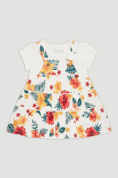 Tropical Pinafore Dress Set