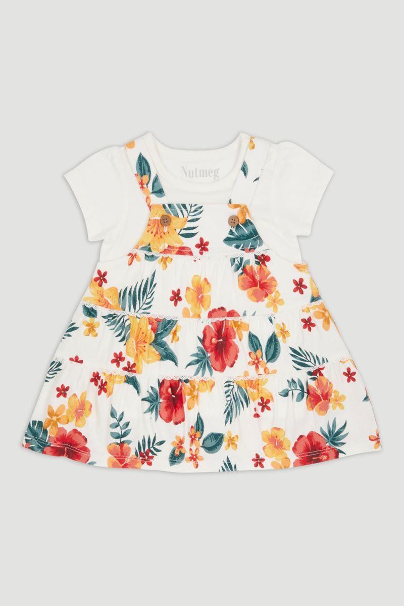 Tropical Pinafore Dress Set