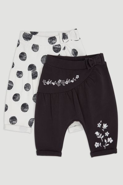 2 Pack Flower & Spot Trousers
