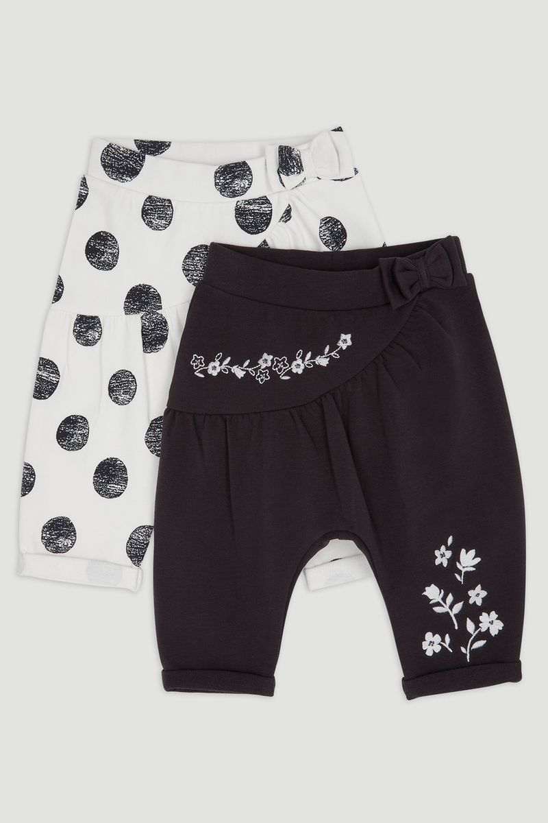 2 Pack Flower & Spot Trousers