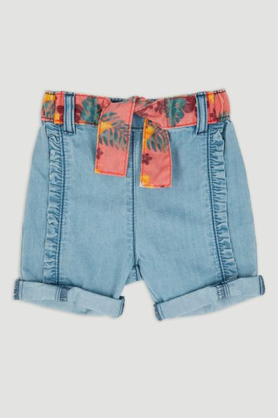 Pull On Denim Shorts