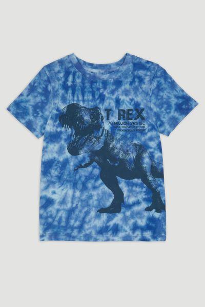 Blue Tie Dye Dinosaur T-shirt