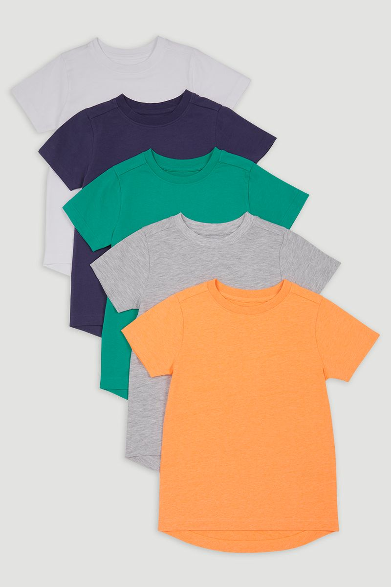 5 Pack Bright T-shirts 1-14yrs