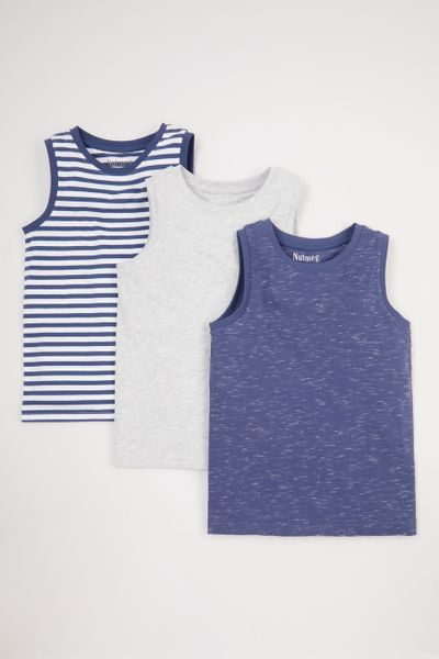 3 Pack Stripe Vests 1-14yrs